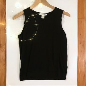 2 for 25 Sale! August Silk Black Shell Tank Top
